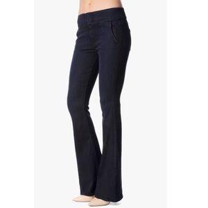 7FAM High Waisted Flare Leg Denim Trouser Jeans